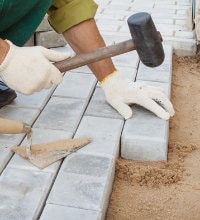 betonklinkers oprit leggen